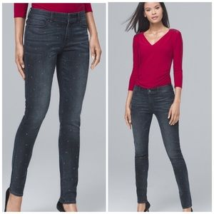 WHBM Studded Front Skinny Jeans